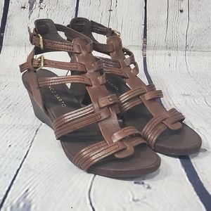 Franco Sarto Delaney Gladiator Woven Sandal Wedges